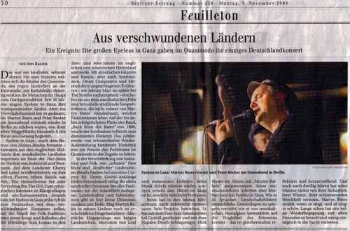 Review of Eyeless gig in Berlin 2008