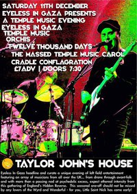 Temple Music evening at Taylor John's House